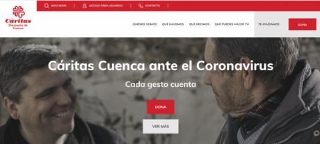 Cáritas Cuenca renueva su página web