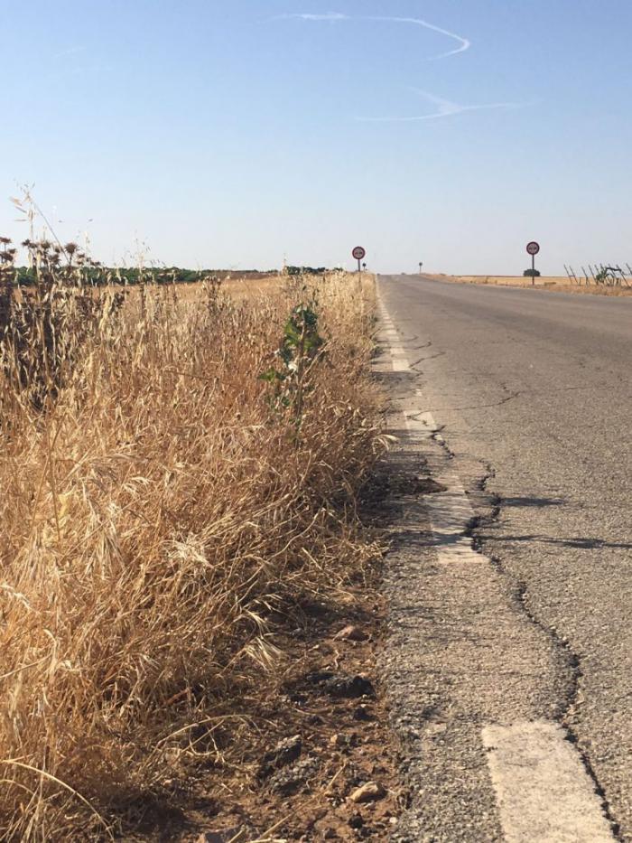 Medianero lamenta que la carretera a Manjavacas no esté arreglada para La Traída