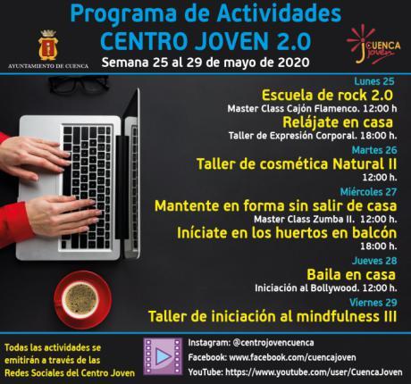 El Centro Joven continúa con su programación virtual con talleres de música, baile y jardinería