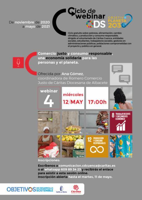 El comercio justo y el consumo responsable, protagonistas de la última webinar de Cáritas