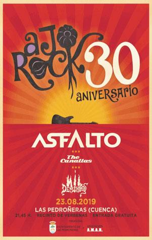 El festival AjoRock 2019 se celebrará el próximo viernes 23 de agosto con la actuación de Asfalto como cabeza de cartel