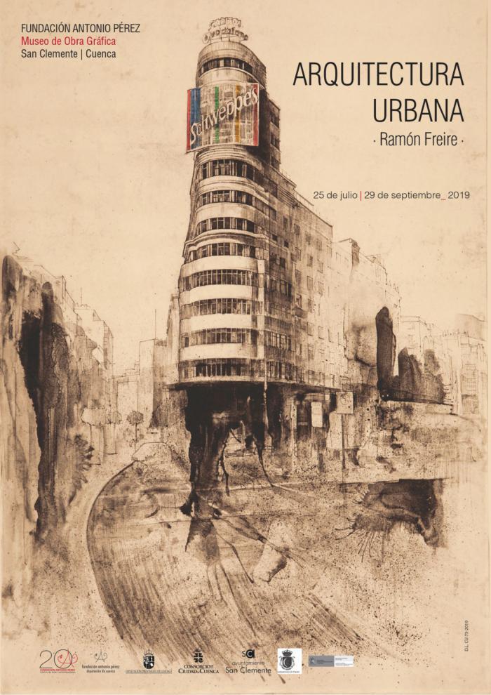 Arquitectura Urbana, de Ramón Freire, llega al Museo de Obra Gráfica de San Clemente