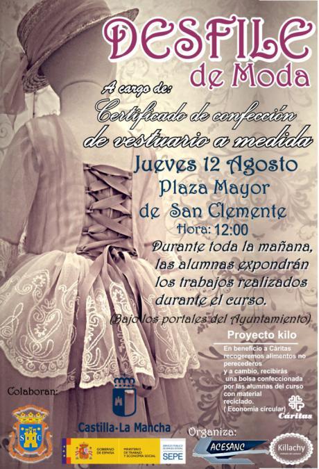 ASESANC celebrará un desfile de moda con los trabajos realizados en su curso de confección de vestuario a medida