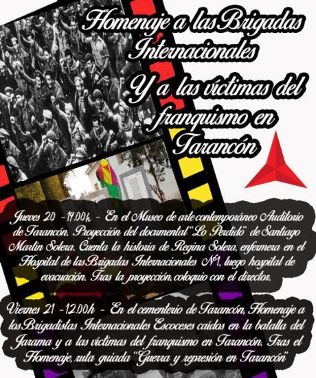 El cementerio de Tarancón acogerá este viernes un homenaje a las Brigadas Intenacionales y a las víctimas del franquismo