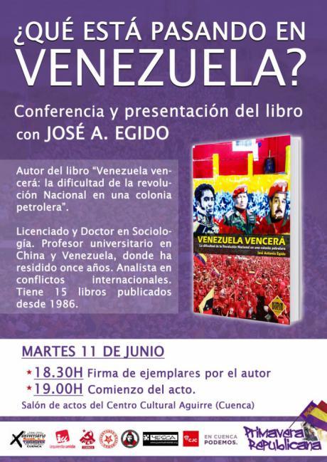 Continúa la 'Primavera Republicana' con la presentación del libro 'Venezuela vencerá: La dificultad de la Revolución Nacional en una colonia petrolera'
