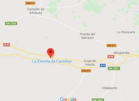 Reabierta la N-III en Castillejo de Iniesta