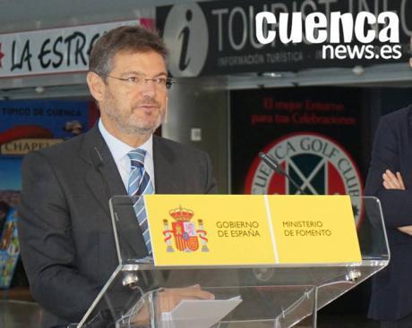 Catalá celebra que gracias al Gobierno de Rajoy los viajeros recurrentes del AVE Madrid-Cuenca contarán con billetes desde 12 euros