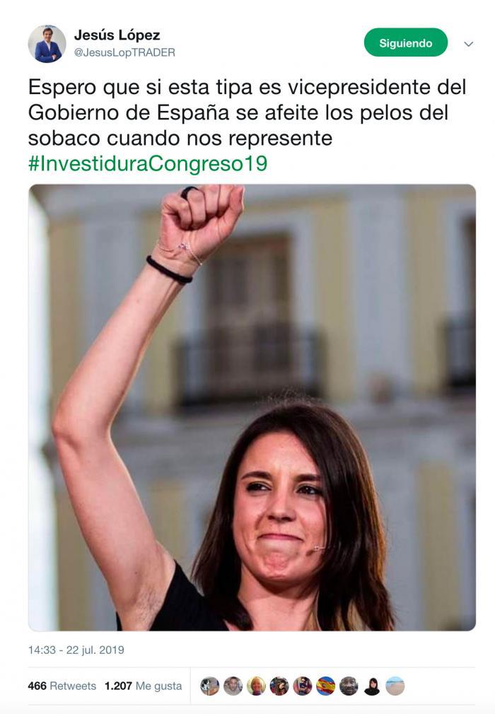 """Piden la dimisión del concejal del PP de Barajas de Melo por su comentario """"machista"""" sobre Irene Montero"""