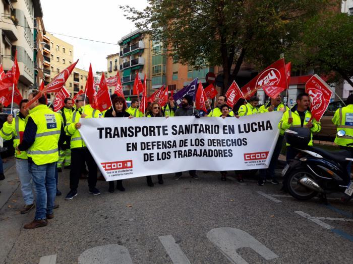 CCOO denuncia que la UTE Ambulancias Cuenca amenaza con despidos en plena Nochebuena