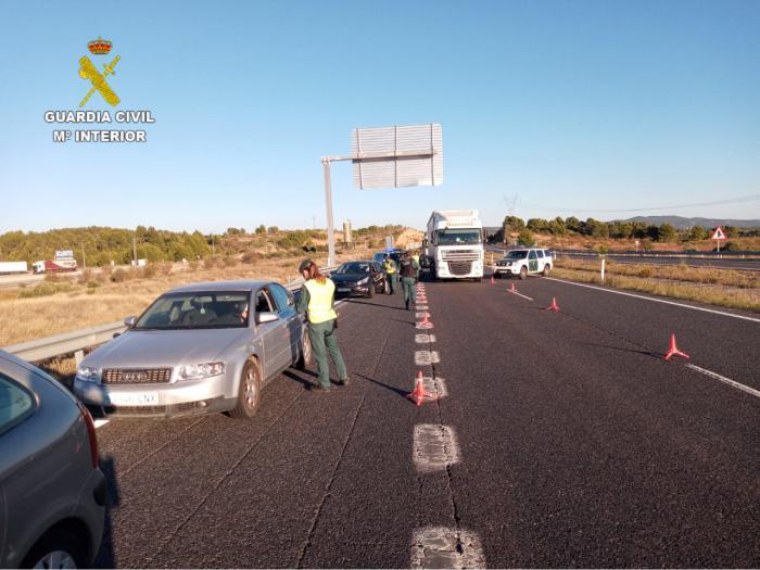 La Guardia Civil realiza controles perimetrales en la provincia
