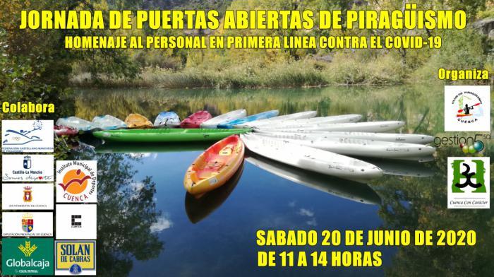 El Club Piragüismo Cuenca con Carácter rinde homenaje al personal que ha permanecido en primera línea frente al Covid-19
