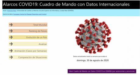 El grupo Alarcos de la UCLM desarrolla una web con datos oficiales sobre la evolución de la pandemia de la COVID-19