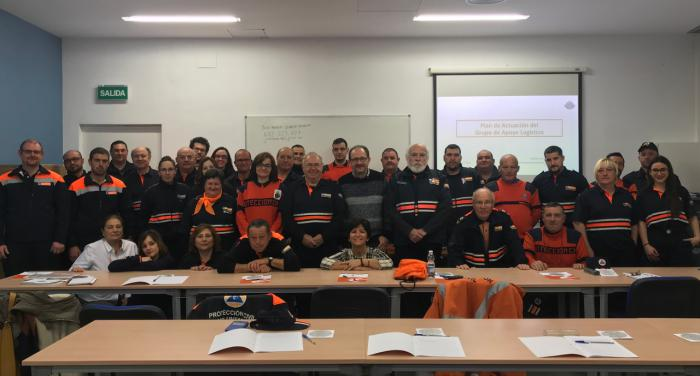 La Junta forma a una treintena de voluntarios de Protección Civil sobre la gestión de los Grupos de Apoyo Logístico