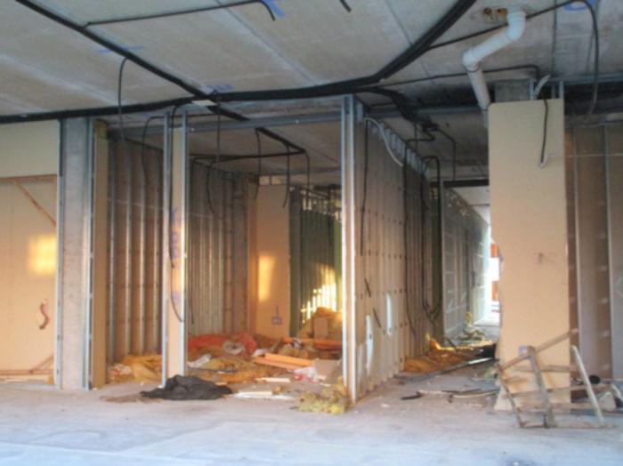 Imagen del interior de los edificios