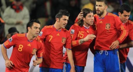 David Villa y otros iconos de la Selección española