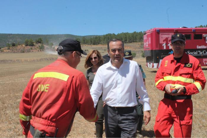 La UME ha desplazado al incendio de Cañamares a 62 militares y 24 vehículos