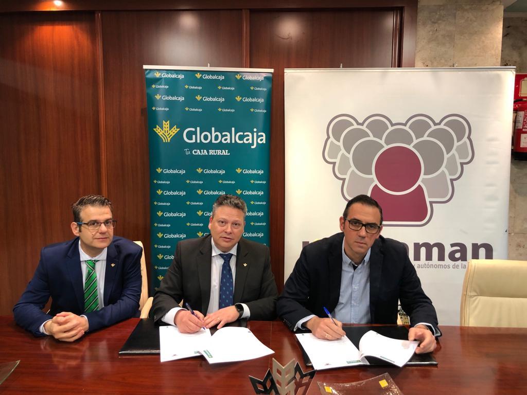 """Convenio de Globalcaja y la Unión de Empresarios, Comerciantes y Autónomos de La Mancha """"UNECAMAN"""""""