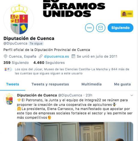La Diputación de Cuenca duplica el número de seguidores en Redes Sociales durante el primer año de legislatura