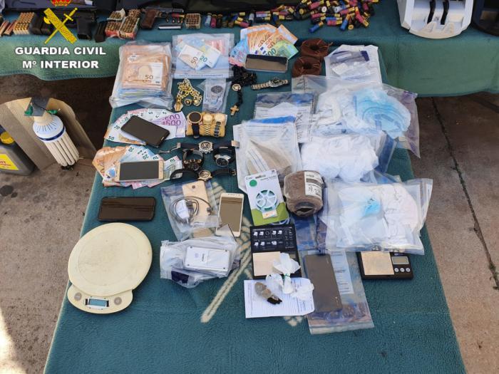 La Guardia Civil de Cuenca desarticula tres grupos criminales dedicados al tráfico de drogas