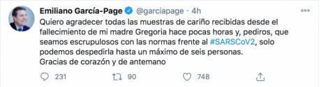 Fallece a los 89 años la madre del Emiliano García-Page