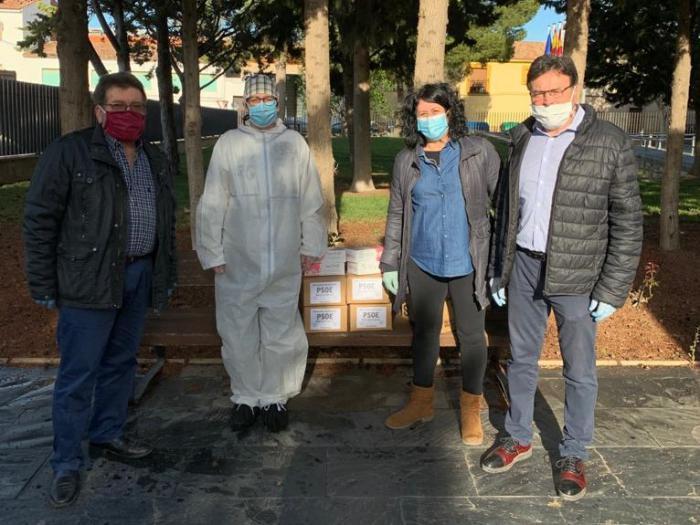 El PSOE de Mota del Cuervo dona más de 1.000 mascarillas y guantes