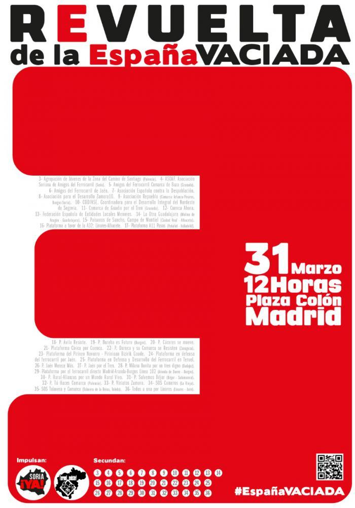 Varias plataformas conquenses coordinan autobuses para ir la manifestación por la España Vaciada