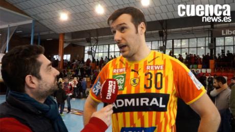 Gedeón Guardiola, jugador del Rhein-Neckar-Lowen valora la victoria ante el Liberbank Cuenca