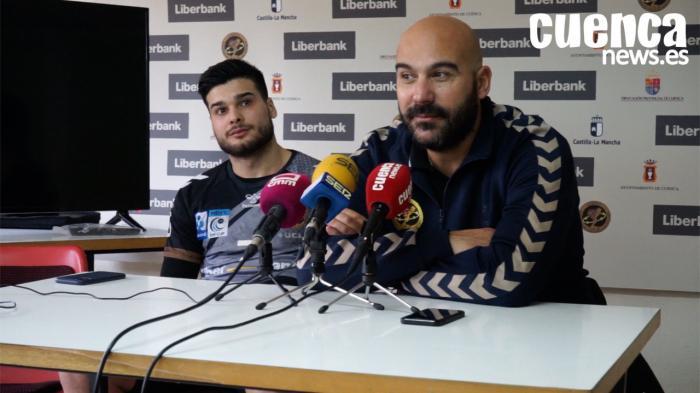 Lidio Jiménez y Natán Suárez, entrenador y jugador del Liberbank Cuenca