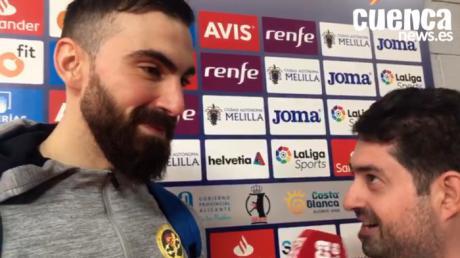 Lucas Moscariello valora el encuentro entre el Liberbank Cuenca - Fraikin Granollers (26- 22) en la semifinales de la Copa del Rey