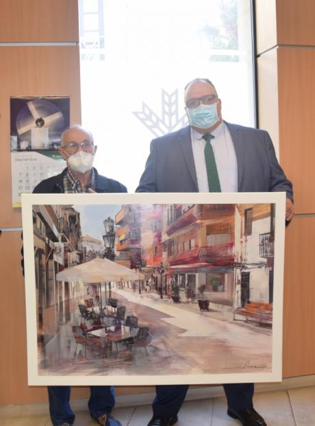 Globalcaja entrega el segundo premio del III Certamen de Pintura Rápida en Quintanar de la Orden
