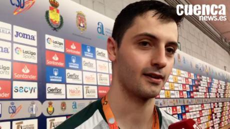 Sergio López valora el encuentro entre el Bidasoa Irún - Liberbank Cuenca (33- 36) en los cuartos de la de final de la Copa del Rey