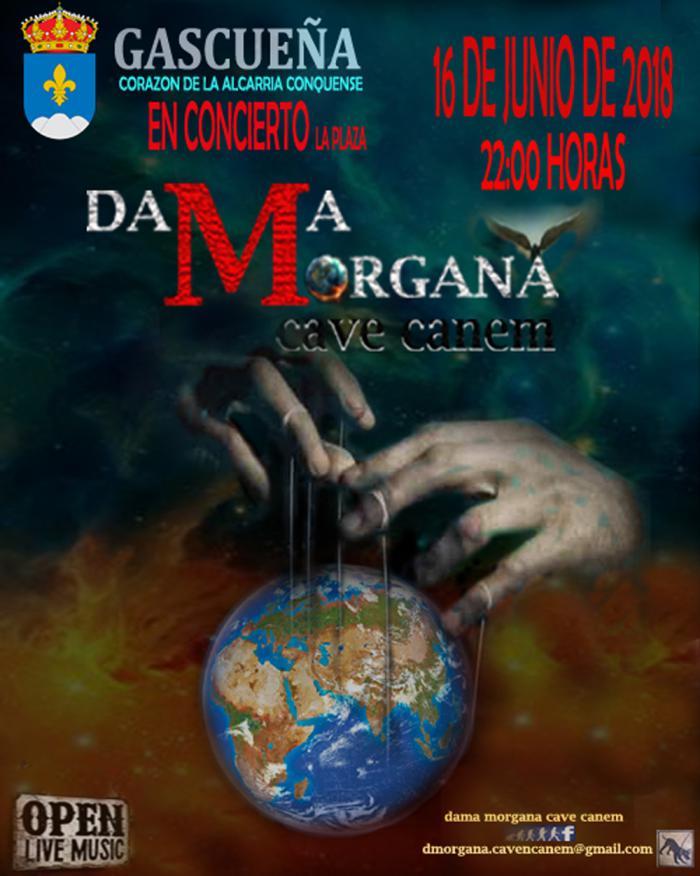 Concierto gratuito de la banda de rock 'Dama Morgana. Cave Canem' el 16 de junio en Gascueña