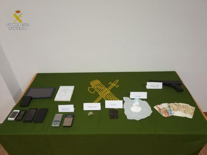 Desarticulado un punto de venta de drogas en la localidad de Honrubia