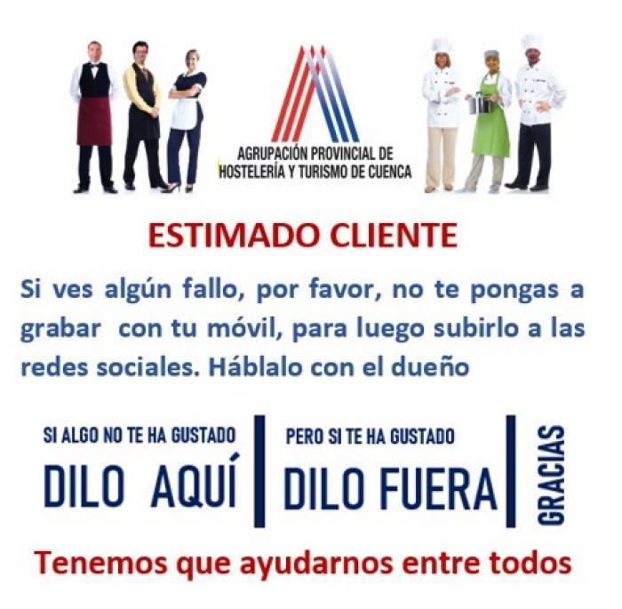 Hosteleros de Cuenca piden a sus clientes no denunciar en redes sociales los posibles fallos de sus locales