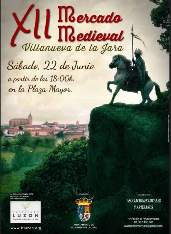 Los ciudadanos de Villanueva de la Jara vuelcan su mercado medieval en luchar contra la ELA