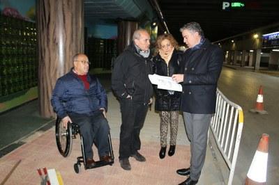 Garijo afirma que las obras realizadas en el túnel de Villacerrada mejoran la accesibilidad, la seguridad y el tránsito peatonal en la zona