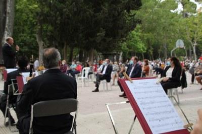 Gran acogida en Albacete al primer concierto de la Banda Sinfónica tras el confinamiento