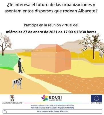 El Ayuntamiento de Albacete promueve la participación en torno al proyecto que estudia la conexión de los diseminados y urbanizaciones con el casco urbano