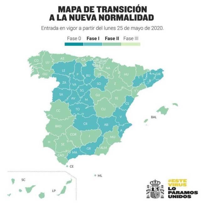 Piden que se autorice la movilidad entre provincias de la misma comunidad autónoma durante la Fase 2