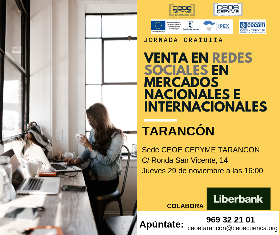 CEOE CEPYME Tarancón acoge este jueves una jornada para vender en redes sociales más allá de nuestras fronteras