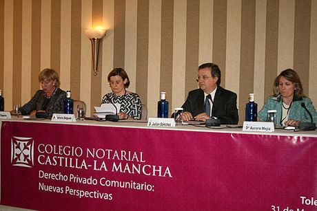 Sánchez Pingarrón asiste al seminario nacional sobre derecho comunitario celebrado por el colegio de notarios de Castilla-La Mancha