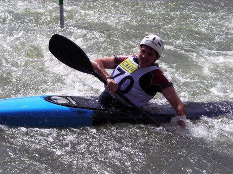 """El club de piragüismo """"Las Grajas"""" participo  en la segunda prueba de la Liga de Slalom Olímpico"""