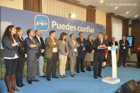 Cospedal arropa a Pulido en la presentación de la lista del PP al ayuntamiento de la capital