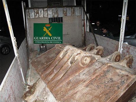 La Guardia Civil del Puesto de Saelices y del Área de Investigación del Puesto Principal de Tarancón,  detienen a dos personas por robo en cantera