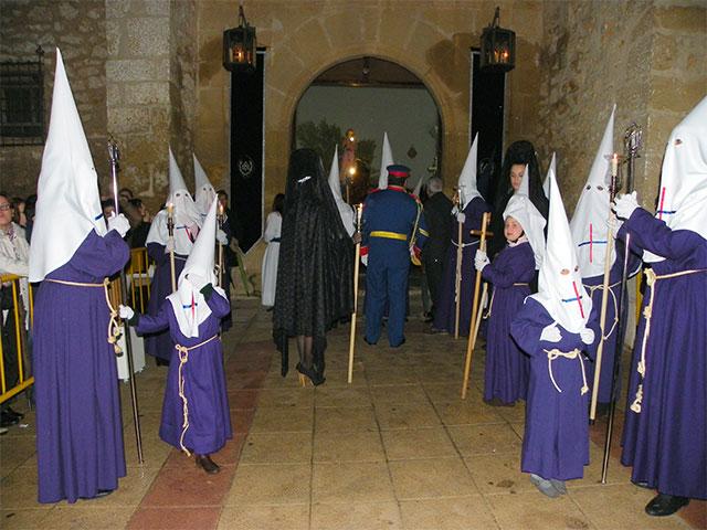 La lluvia impidió la salida de la procesión de la Oración en el Huerto, el prendimiento y la Virgen de la Esperanza y Caridad