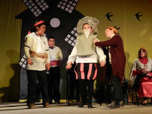 Festival sobre el Quijote en el colegio Santa Ana