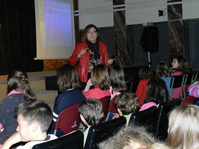 Pilar Gómez Couso y Tomás Bux también colaboran con el Proyecto Cervantes 4.00 del Colegio Santa Ana