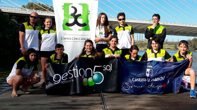 El Club Piragüismo Cuenca con Carácter se trae 6 medallas de Pontevedra
