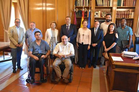 El Gobierno regional recibe a la nueva federación de asociaciones de atención a la discapacidad física y orgánica 'CLM Inclusiva'