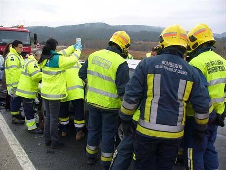 Un muerto en un choque entre un turismo y un tractor en Campillo de Altobuey